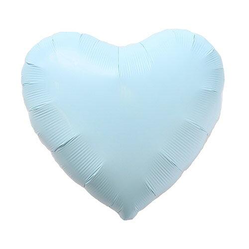 アルミバルーン ハート パステルブルー 35cm【アルミ風船】【風船のみ】バレンタイン ウエディング 結婚式 イースター パステルカラー スプリング