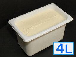 「ジェラートジェラート」業務用・大容量アイスクリーム・リッチバニラ味 4L(4リットル)
