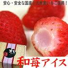 『国産いちごに苺練乳アイスを詰めました♪』和苺アイス(なごみいちごアイス)