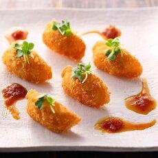 餃子フライ酢醤油