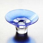 glasscalico グラスキャリコ ハンドメイド ガラス酒器 逆さ富士 ぐい呑