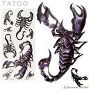 タトゥーシール タトゥー シール 3D さそり 蠍 サソリ スコーピオン 防水 ボディシール ボディー ペイント ハロウィン ハローウィン TATOO 入れ墨 刺青 転写 防水 カラフル 3D-14・・・
