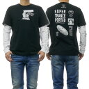 (ディーゼル)DIESEL メンズクルーネックロングTシャツ T-SHOOT-YA 00SNRB 0091A ブラック /2019春夏新作