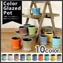DULTON カラーグレーズポット Color Glazed Pot 【植木鉢 /おしゃれ/ポット/プランター/陶器鉢/ダルトン/カラフル】