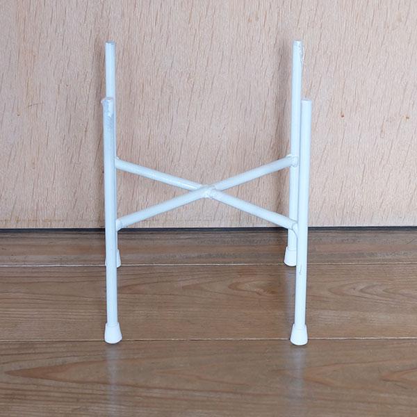 ポットスタンドクロス20ホワイト【フラワースタンド/鉢台/鉢スタンド/おしゃれ/アイアン/植木鉢スタンド】