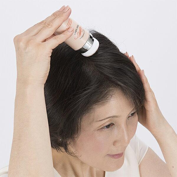 【送料無料】ヘアレーベル 頭皮用ファンデーション 20g ミラー付き女性用 白髪 薄毛頭髪 頭皮 増毛 ボリュームアップ 小顔メイク 白髪 分け目 生え際 髪