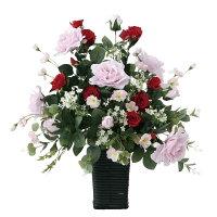 造花アートスエーデンローズの全体画像