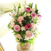 アレンジメントフラワーLサイズ Girlishness(ピンク系)※デザイナーが手がけるお洒落な一品。お見舞いや快気祝いなど、退院後のお祝いに関する贈り物に【送料・メッセージカード無料】【あす楽】