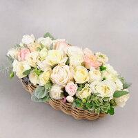 アレンジメントフラワーは場所を選ばず人気のお祝い花です。