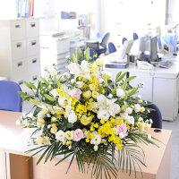 清潔感のあるお祝い花です。開店祝いから結婚祝いなど多目的にご利用頂けます。
