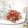 開店祝い!開業祝いに!大型アレンジメントフラワー赤色系1.4万円コース 当日配達可能!【送料無料!】 【楽ギフ_包装】【楽ギフ_メッセ入力】【あす楽】