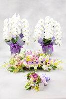 全国配送供花祭壇花4点セット1日葬・家族葬・お別れ会【送料無料】【配送・設置・回収つき】