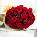 花束・ブーケ赤バラ30本皇室献上実績のバラ農園から宅配直送!誕生日、結婚、長寿、新築、退職などお祝い事のフラワーギフト・贈り物にオススメ【送料・メッセージカード無料】【あす楽】