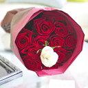 【メッセージ入り】花束・ブーケ赤バラ12本皇室献上実績のバラ農園から宅配直送!誕生日、結婚、長寿、新築、退職などお祝い事のフラワーギフト・贈り物にオススメ【送料・メッセージカード無料】