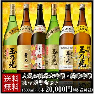 人気の純米大吟醸・純米吟醸たっぷりセット 1800ml×6本 BTNY-6B