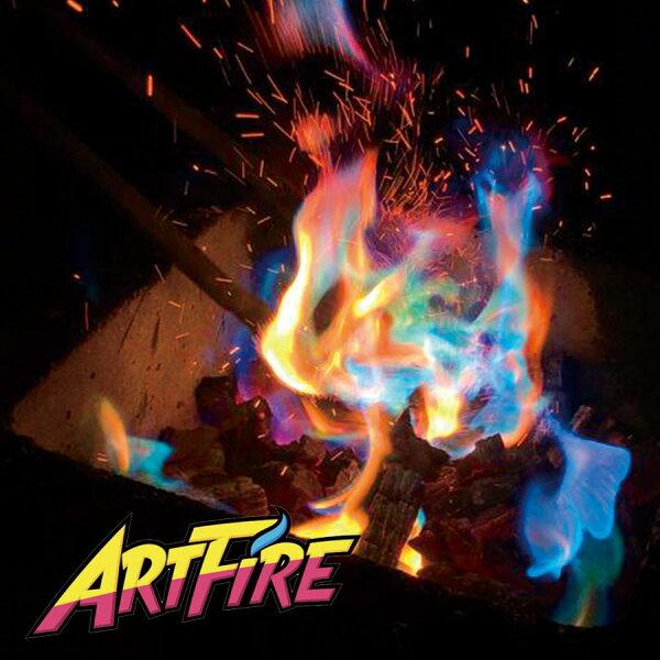 焚火アートファイヤーアウトドアARTFIRE10袋炎の色が虹色にインスタ映えキャンプファイヤー焚き火youtube動画ネタ
