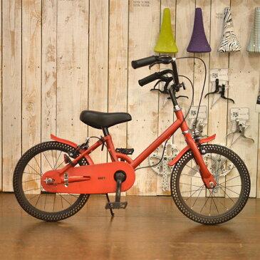 ノーパンク自転車 FUN EASY ビーチクルーザー 16インチ 完成車 ※補助輪付きマットレッド キッズ 子供用 おススメ ノーパンクタイヤ ライダーズカフェ適正身長110cm以上