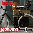 即納可能!!オーダーメイドピストバイク!!ピストバイク 700C ブラックフレーム 『ANGUS』補償バ...
