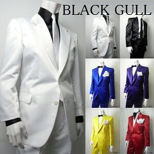 【BLACKGULL】メンズステージ衣装コスチュームロックバンド衣装男性【品番/デザイン】JA-2600/JA-2700サテン2Bシングルジャケッ【送料無料】