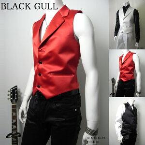 BLACKGULLステージ衣装男性メンズロックバンド衣装カラオケコスチュームV系ホストハロウィンコスプレ送料無料衿付ベスト