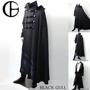 BLACKGULLステージ衣装男性メンズロックバンド衣装カラオケコスチュームV系ホストハロウィンコスプレ送料無料マントロングコート