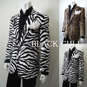 BLACKGULLステージ衣装男性メンズロックバンド衣装カラオケコスチュームV系ホストハロウィンコスプレ送料無料豹柄ゼブラ柄