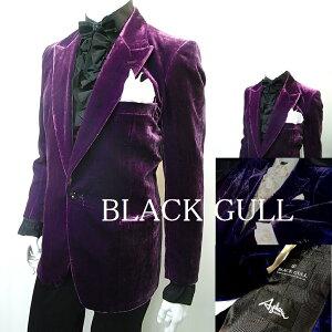 BLACKGULLステージ衣装男性メンズロックバンド衣装カラオケコスチュームV系ホストハロウィンコスプレ送料無料ベルベットジャケット