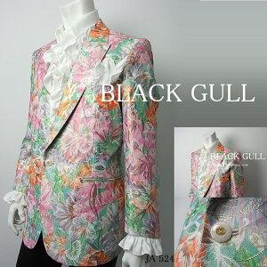 BLACKGULLステージ衣装男性メンズロックバンド衣装カラオケコスチュームV系ホストハロウィンコスプレ送料無料花柄