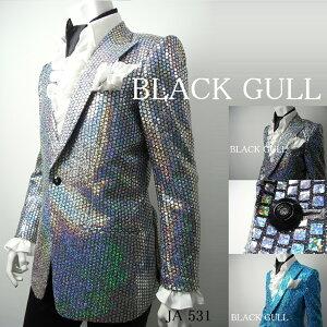 BLACKGULLステージ衣装男性メンズロックバンド衣装カラオケコスチュームV系ホストハロウィンコスプレ送料無料スパンコールジャケット