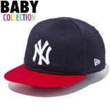 ニューエラ キッズ NEW ERA Kid's My 1st 9FIFTY ニューヨーク・ヤンキース スナップバックキャップ 帽子 赤ちゃん ベビー 子供服 11433918 ネイビー×ホワイト スカーレットバイザー