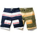 【 送料無料 】【 Nine Rulaz Line / ナインルーラーズ 】 Border Cargo Shorts カーゴショーツ ( ナインルーラーズ パンツ ) ( NINE RULAZ パンツ )