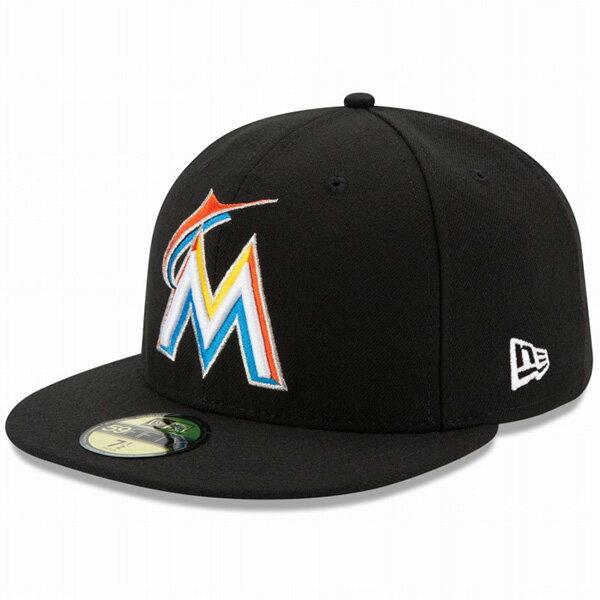 8ec3b45b97b23 ニューエラ キャップ NEW ERA 59FIFTY MLB On-Field マイアミ・マーリンズ ホーム キャップ 帽子 CAP 11449366  ブラック