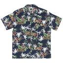送料無料 7UNION 7ユニオン Big Island Shirt 半袖 ハワイアンシャツ アロハシャツ IAVW-022C ネイビー