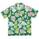 送料無料 7UNION 7ユニオン KONA Shirt 半袖 ハワイアンシャツ アロハシャツ IAVW-022C グリーン