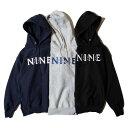 ナインルーラーズ パーカー メンズ レディース 送料無料 NINE RULAZ LINE NINE Logo Embroidery Sweat Hoodie スウェットパーカー プルオーバー ストリート ブランド ロゴ M-XXL 全3色 NRAW19-010