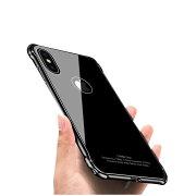AppleiPhoneXケースアルミバンパー透明背面強化ガラス背面パネル付きかっこいいアイフォンXアルミサイドバンパーアップルおすすめおしゃれスマホケース