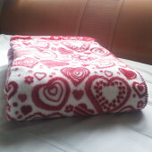 送料無料!襟元を折り返した日本製綿毛布の迷彩柄