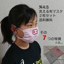 無地もあります 洗える布マスク 日本製 2枚セット 泉州タオル使用 刺繍入り 笑えるマスク アベノマスクよりタニノマスク 片面パイル ポケット付き 不織布2枚付き