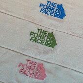 THEPORKFACE240匁フェイスタオル2枚セットポークフェイスの刺繍入り泉州産純白日本製送料無料