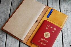 【本革トラベラーズノートカバーパスポートケース】【メール便対応OK・送料無料】