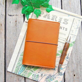 Passport case cover for the leather traveler's notebook passport size