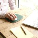 マウスパッド 革 ワイド / 本革 8色 かわいい おしゃれ 極厚 レザー 滑らない PCアクセサリー 光学式 マウス メンズ レディース シンプル 名入れ / 誕生日 プレゼント おすすめ 3