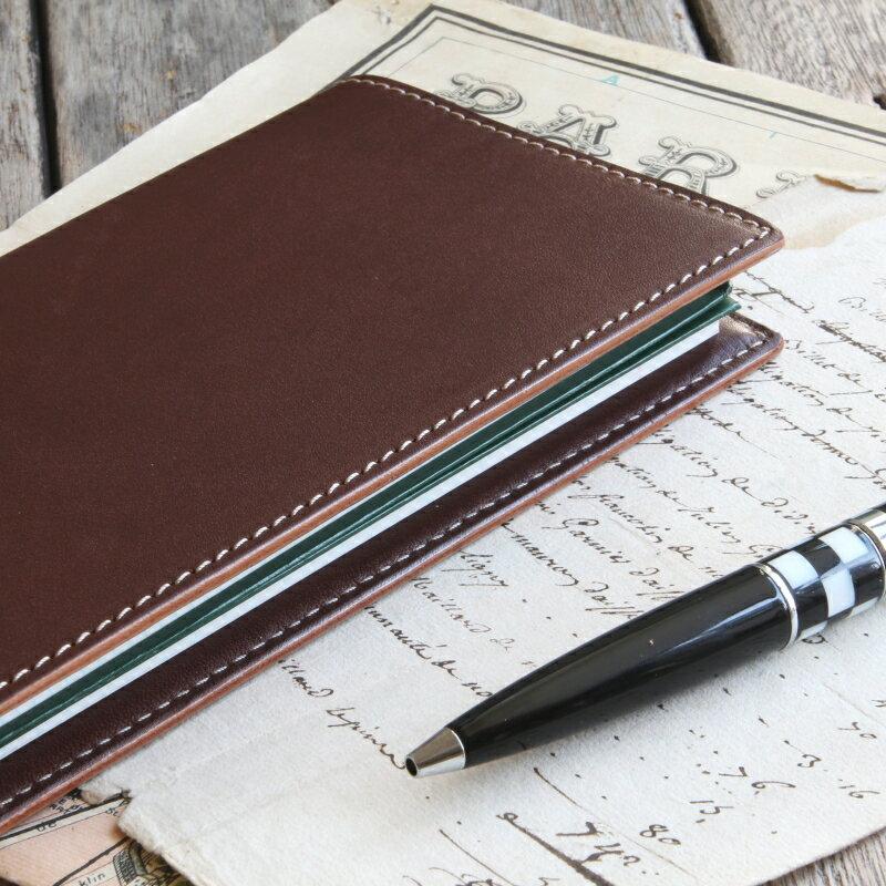 本革手帳カバー「測量野帳」専用サイズカバー 2冊収納 / 国産フルタンニンドレザー