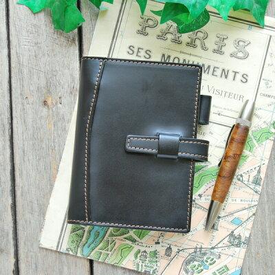 ※15mmリングのベーシックなミニ6穴ポケットサイズ※【本革システム手帳 ミニ6穴ポケットサイズ...