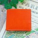 二つ折り財布 (小銭入れ付き) 革 ハーフウォレット / メンズ レディース
