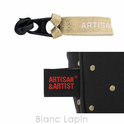 アルティザン&アーティスト ARTISAN&ARTIST スロープシェイプ・ポーチ 6WP-DT110H シャイニー・ドット #ブラック [117286]