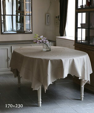 LA GALLINA MATTA オイルクロステーブルクロス・マロングラッセ170x230/テーブルクロス 撥水 クロス かわいい 北欧 プレイスマット イタリア キッチン雑貨 フランス テーブルウェア マット 洗える オイルクロス