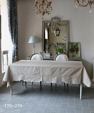 LA GALLINA MATTA オイルクロステーブルクロス・マロングラッセ170x270/テーブルクロス 撥水 クロス かわいい 北欧 プレイスマット イタリア キッチン雑貨 フランス テーブルウェア マット 洗える オイルクロス