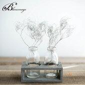 花瓶花器ヴィエイユウッド&ボトル2ボトル