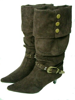 With buckle & button! kusyukusyu boots < Brown > 20070126 Festival 5